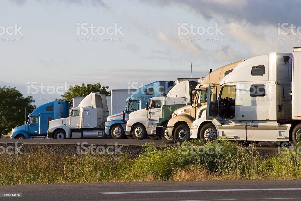 Line of Trucks 2 royalty-free stock photo