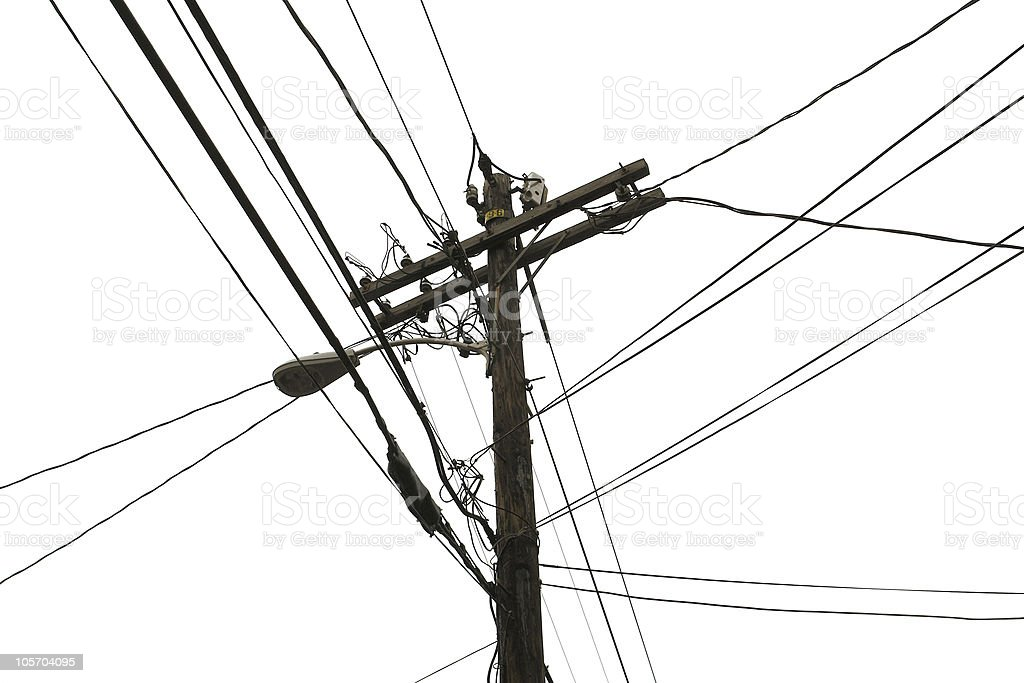 line pole in white back royalty-free stock photo