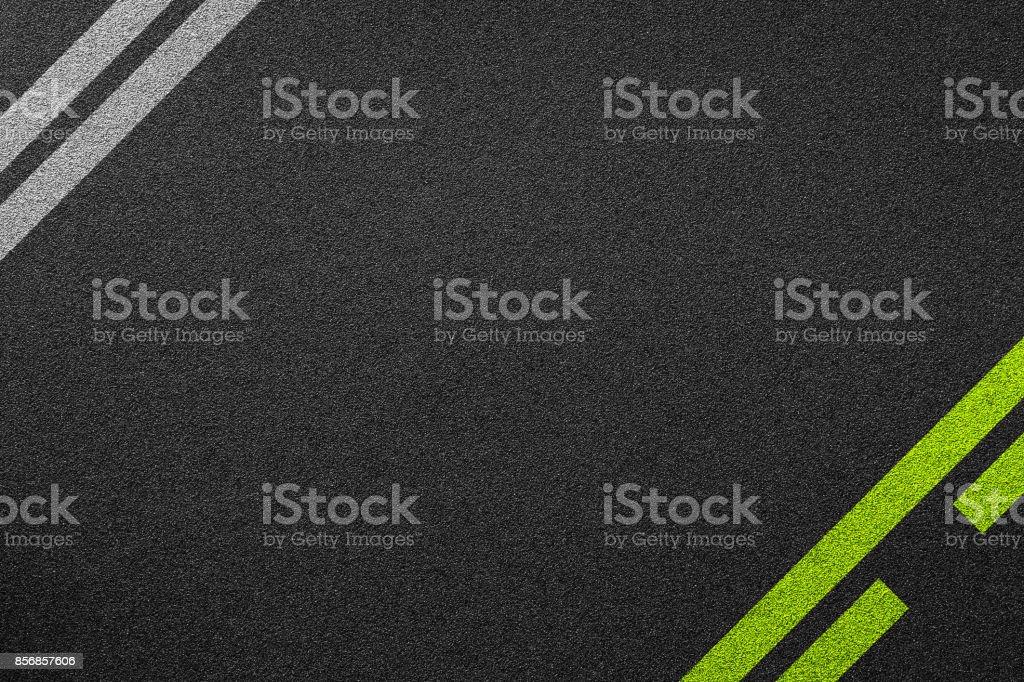 line racing background texture of rough asphalt stock photo
