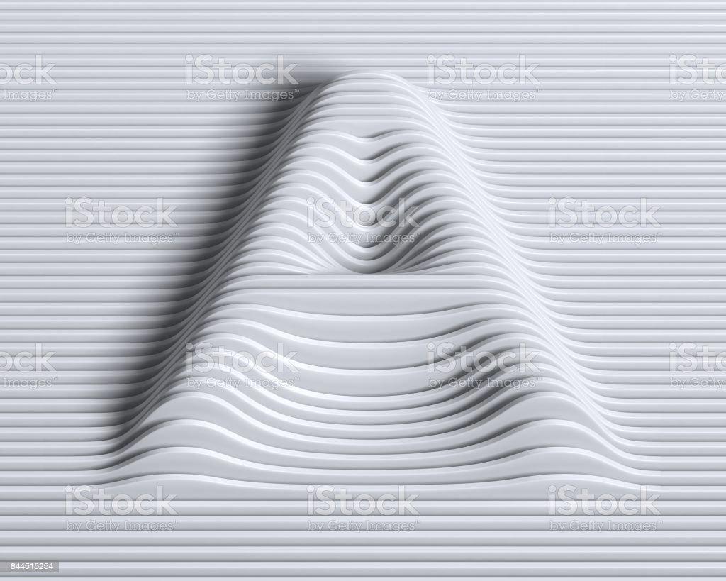 Doğrusal 3d yazı tipi harf A stok fotoğrafı