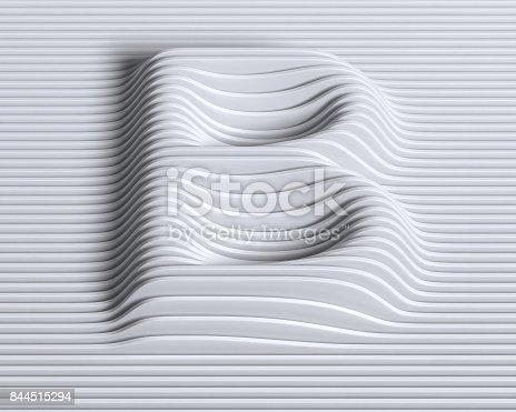 istock Linear 3d font letter B 844515294
