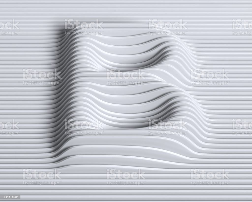 Linear 3d font letter B stock photo