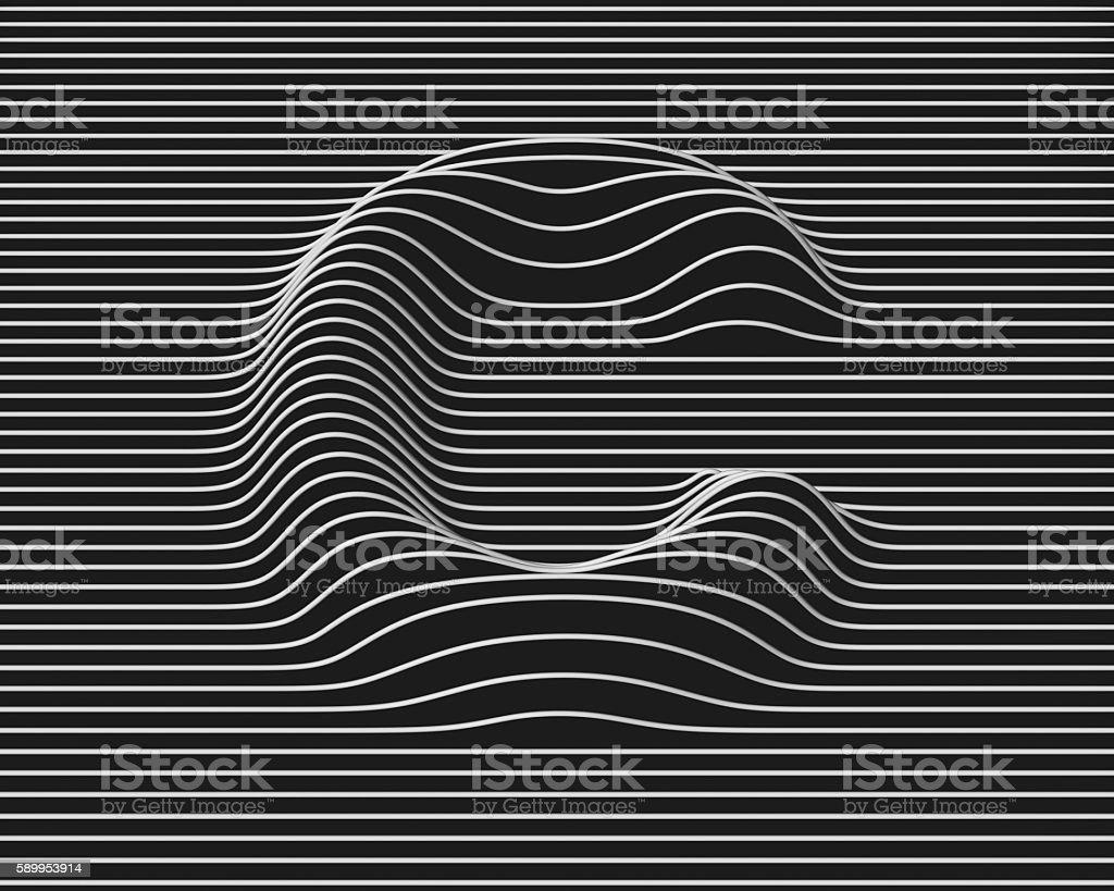 linear 3d font letter C - foto de stock