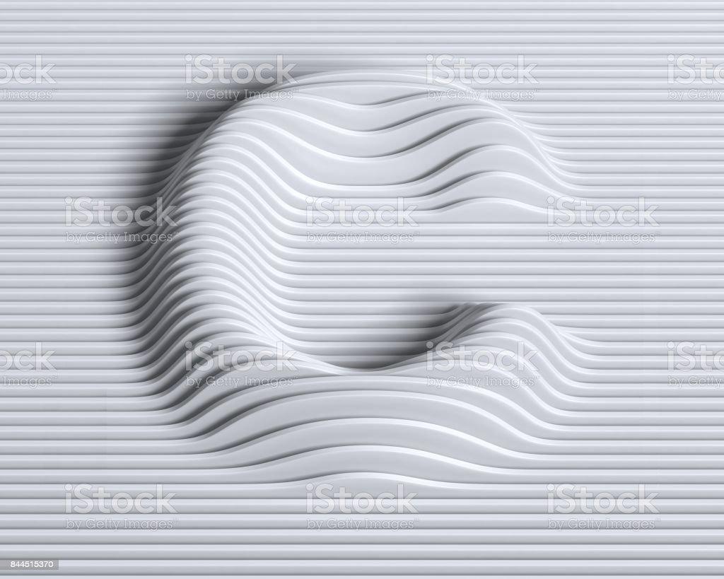Fuente 3d lineal letra C - foto de stock