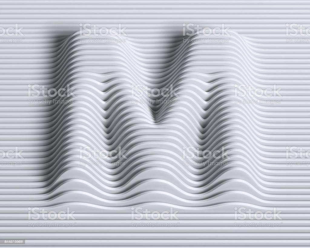 Lineare 3d Schrift Buchstabe M – Foto