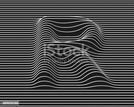 583978558istockphoto linear 3d font letter R 589956086