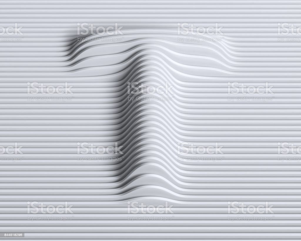 Linear 3d font letter T stock photo