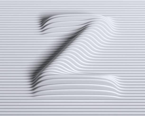 Linear 3d font letter Z stock photo