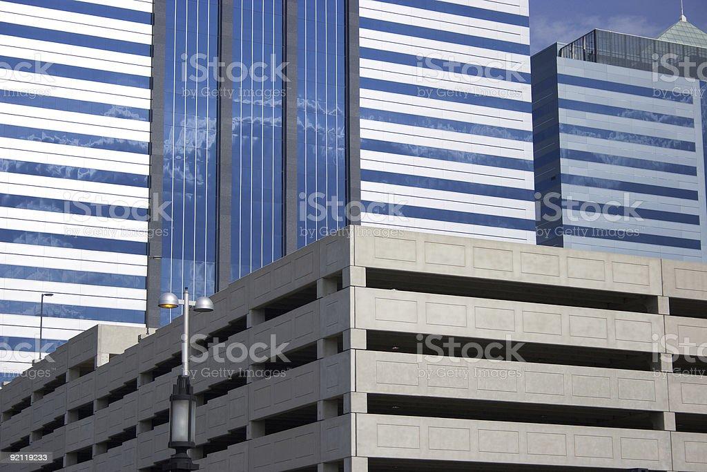 Linear Buildings stock photo