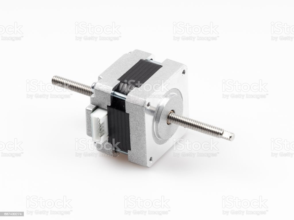 Linear stepper motor stock photo