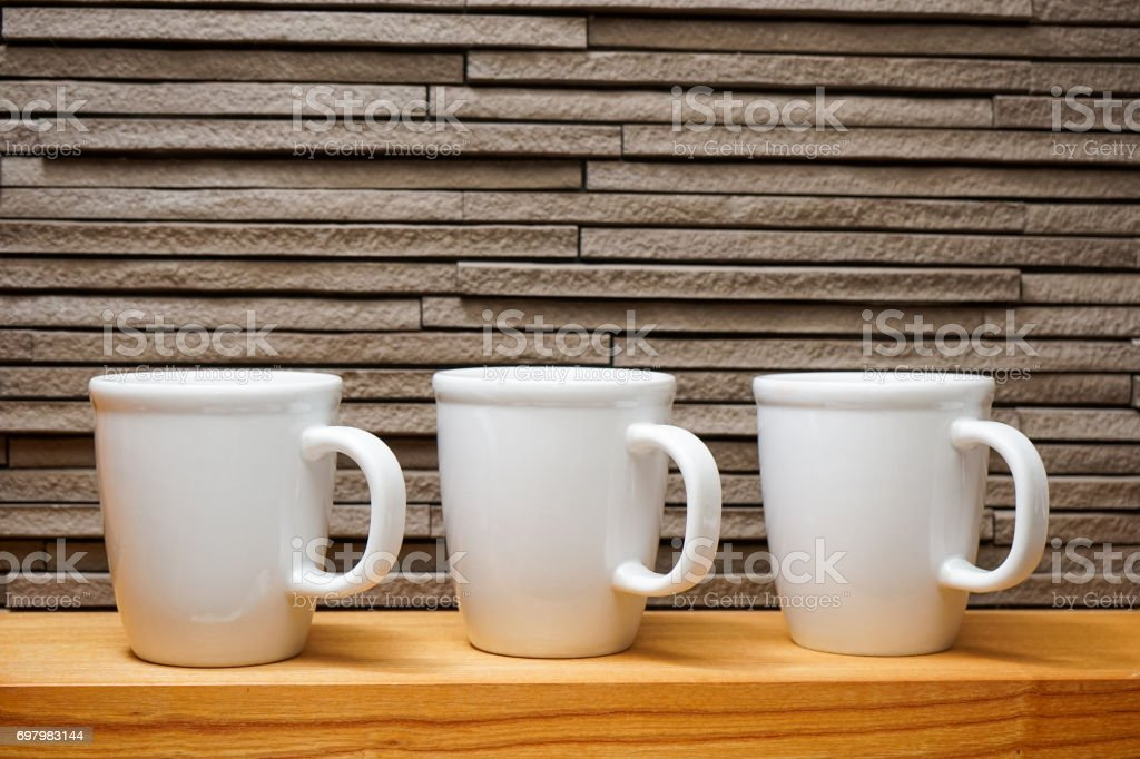 Lined cups stock photo
