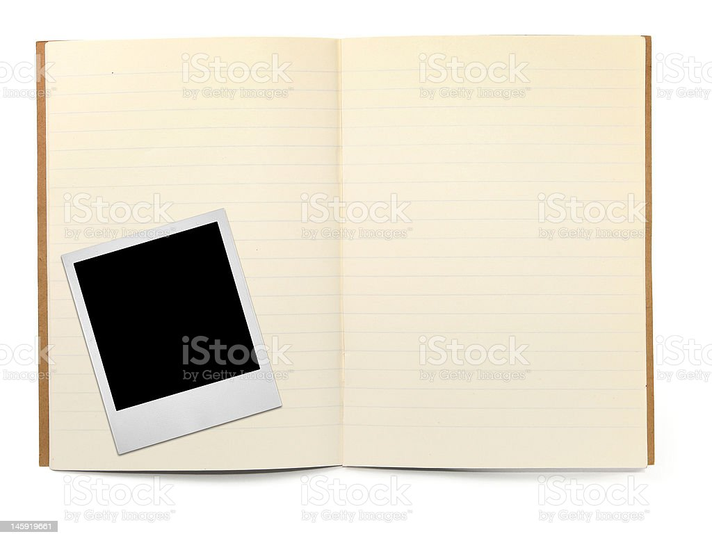 lined exercise book royalty-free stock photo