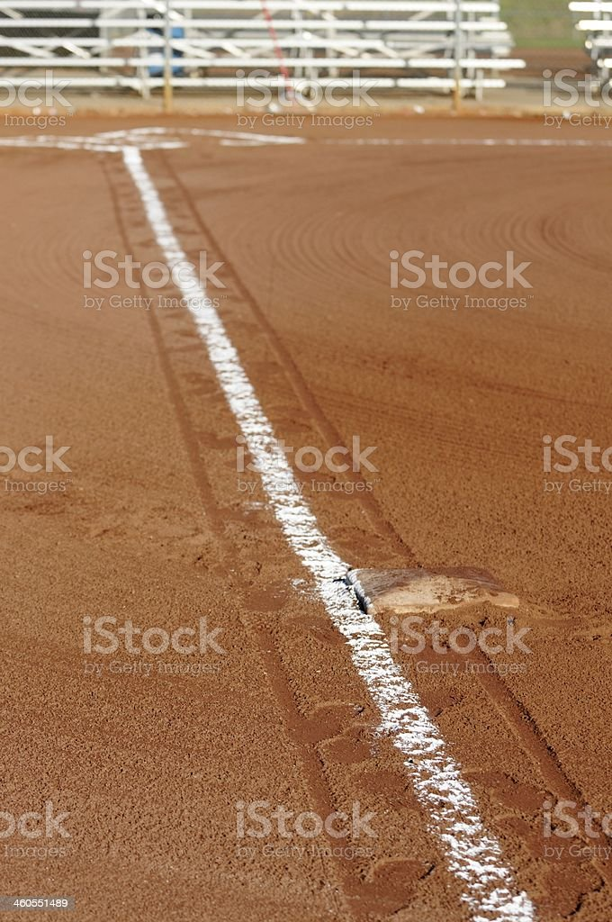 Lined first base line stock photo