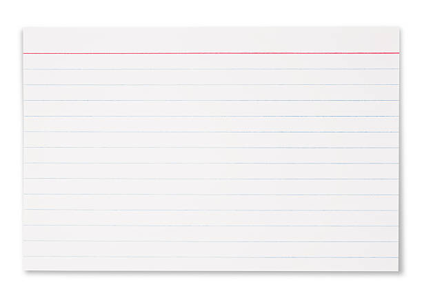 Lined Index Card stock photo