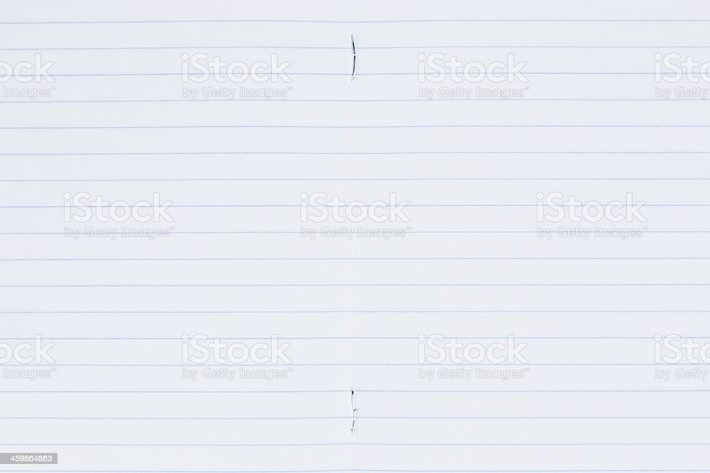 lined paper page stock photo