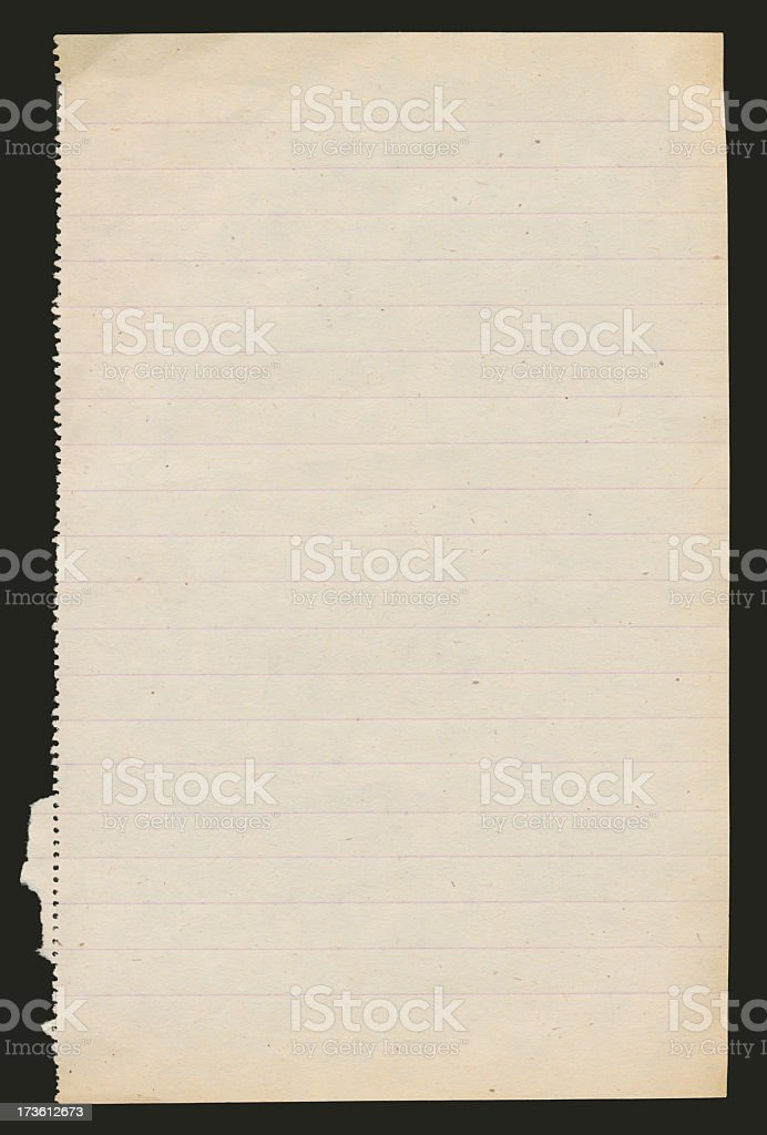 Lined Paper XXL royalty-free stock photo