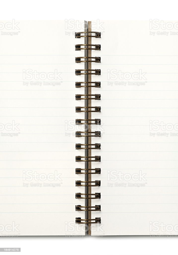 Lined Spiral Notebook royalty-free stock photo