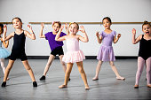 istock Lined Up Diverse Young Students in Dance Class 953708734