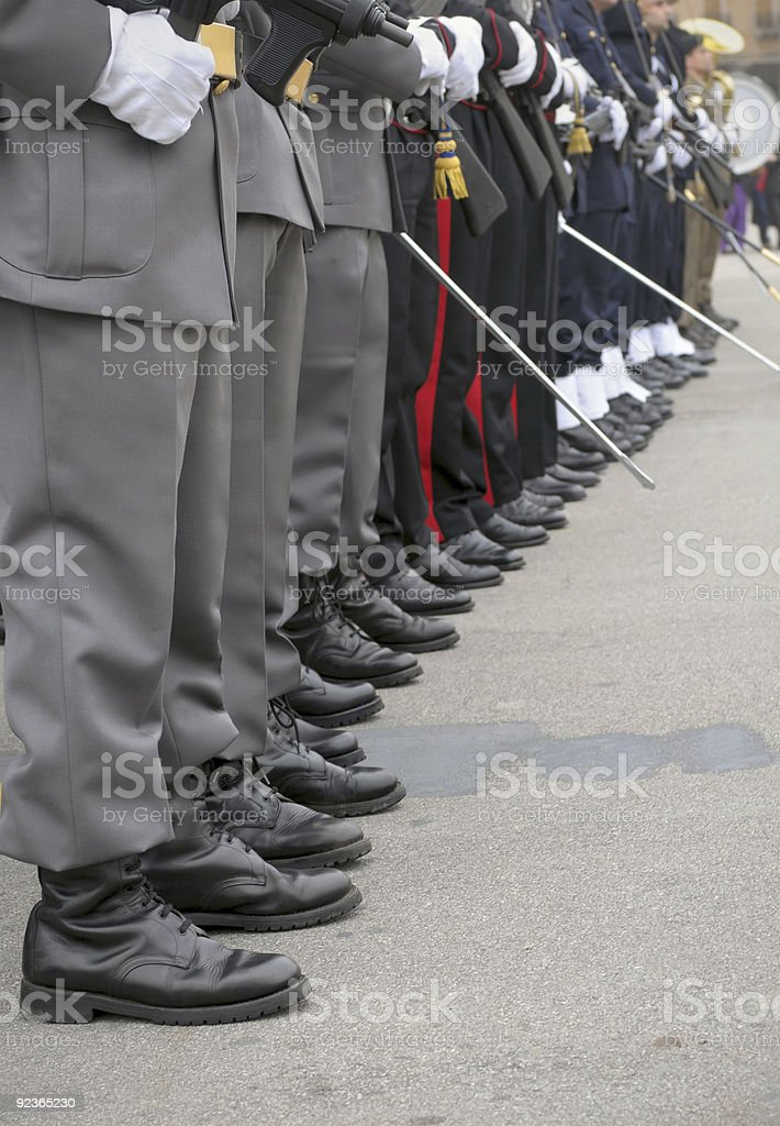 Lined up platoons royalty-free stock photo