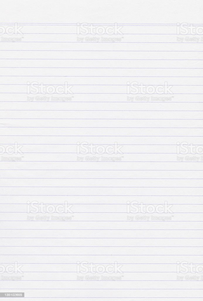 Lined White Paper Background stock photo