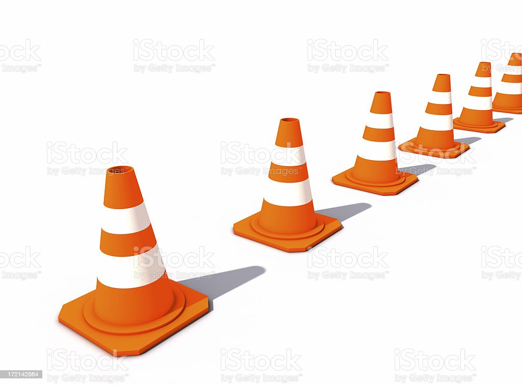 Lined-up Cones royalty-free stock photo