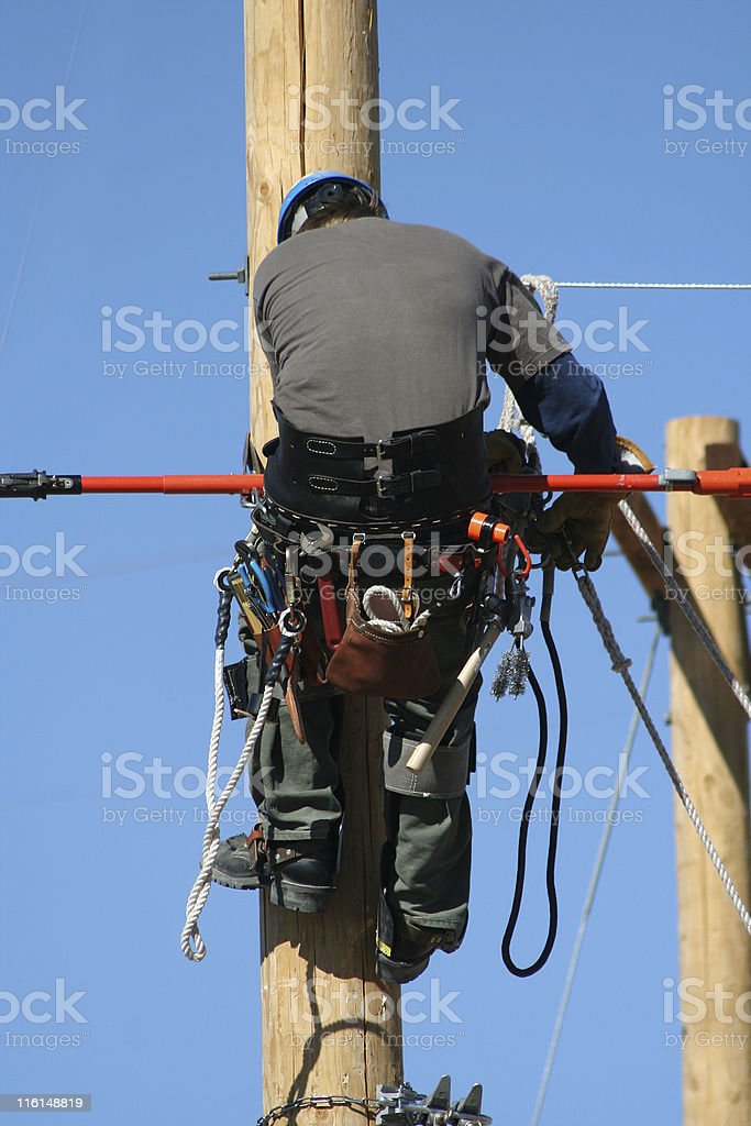 lineman royalty-free stock photo