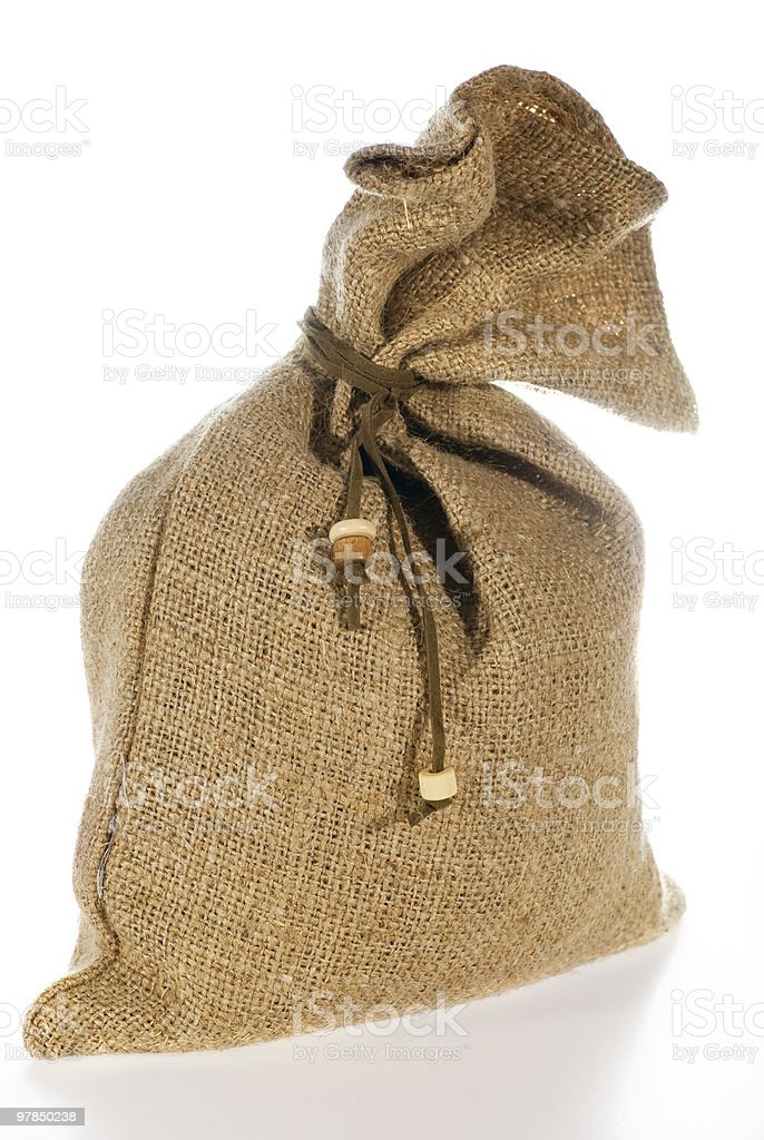 linen bag royalty-free stock photo