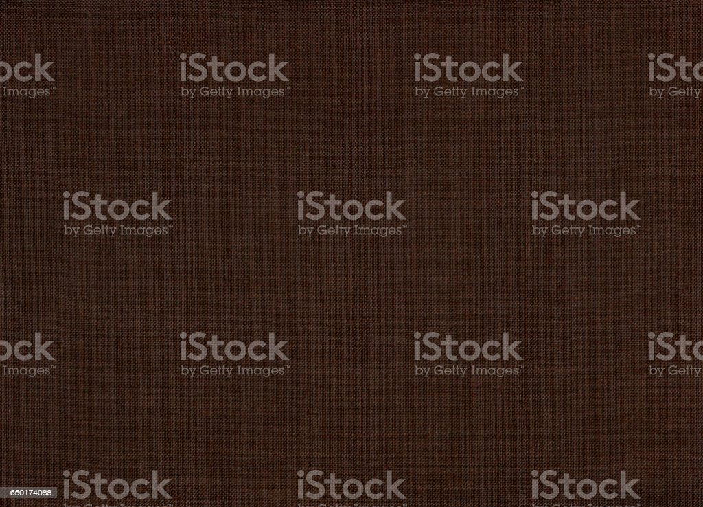 Linen fabric texture brown background stock photo