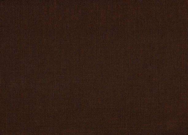 リネン生地茶色のテクスチャ背景 ストックフォト