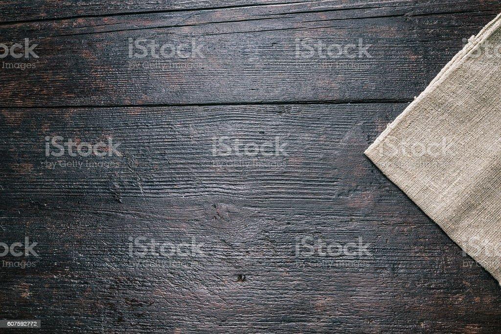 Linen napkin corner stock photo