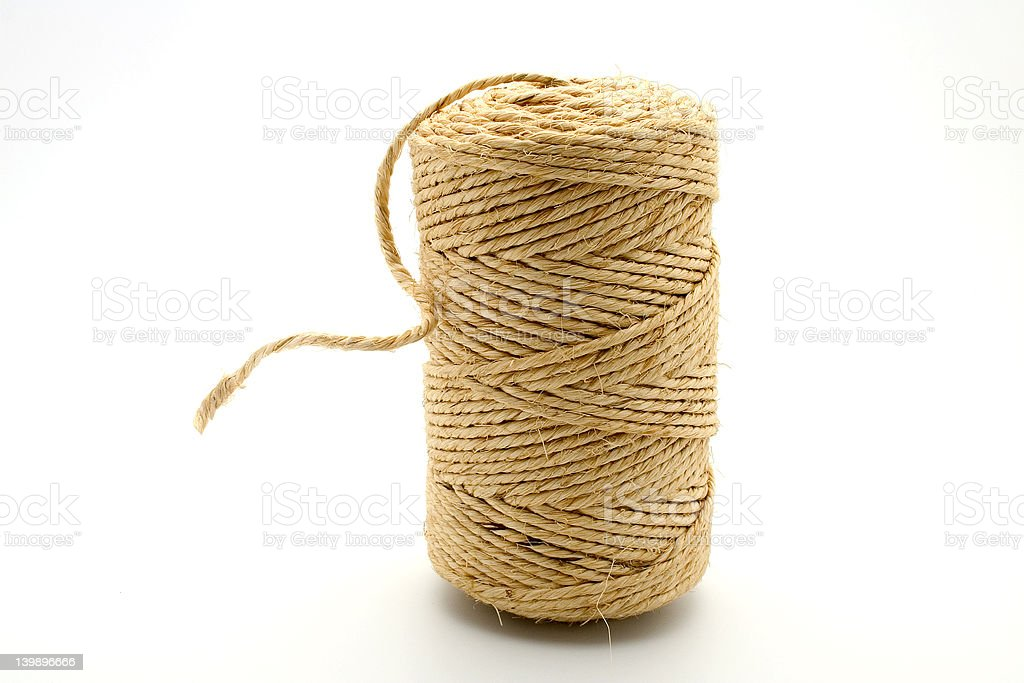 Linen string stock photo