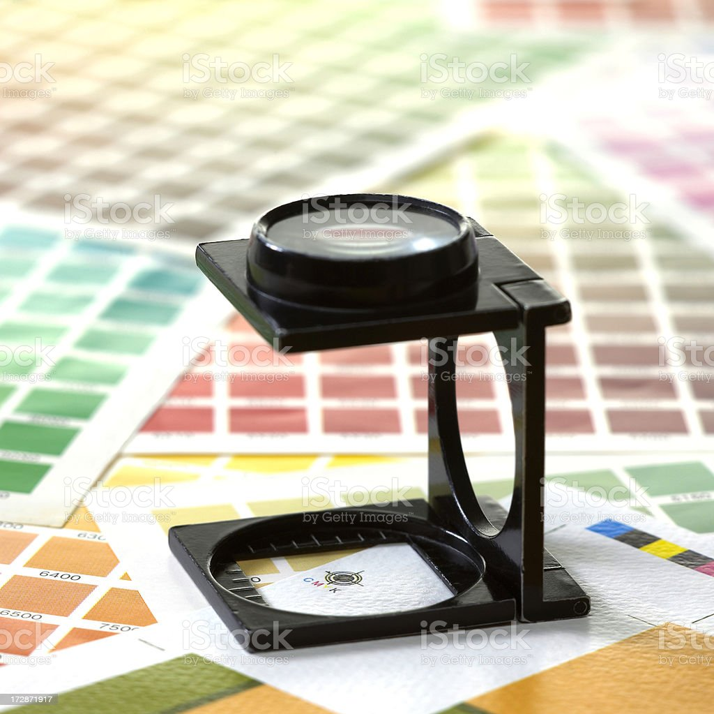Linen tester and color scales royalty-free stock photo