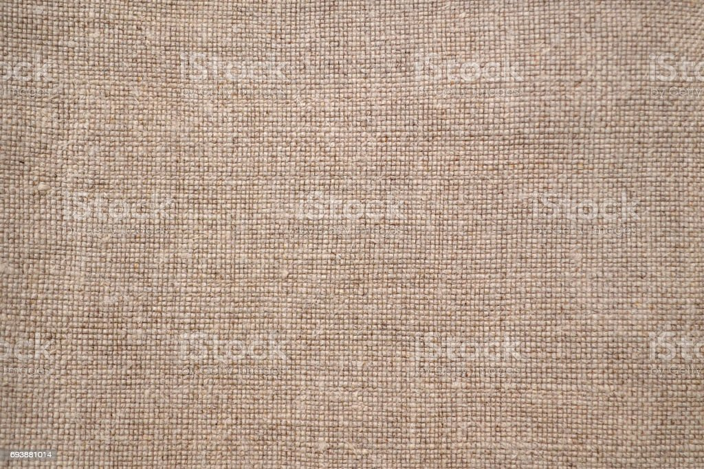 Linen texture background. Natural brown color. stock photo
