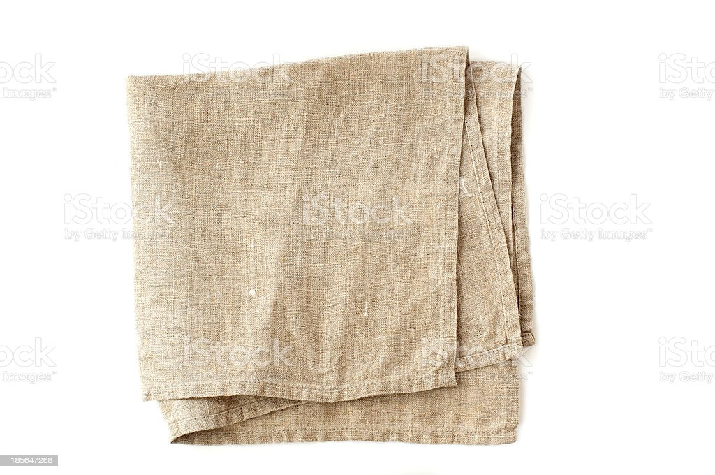 linen serviette stock photo