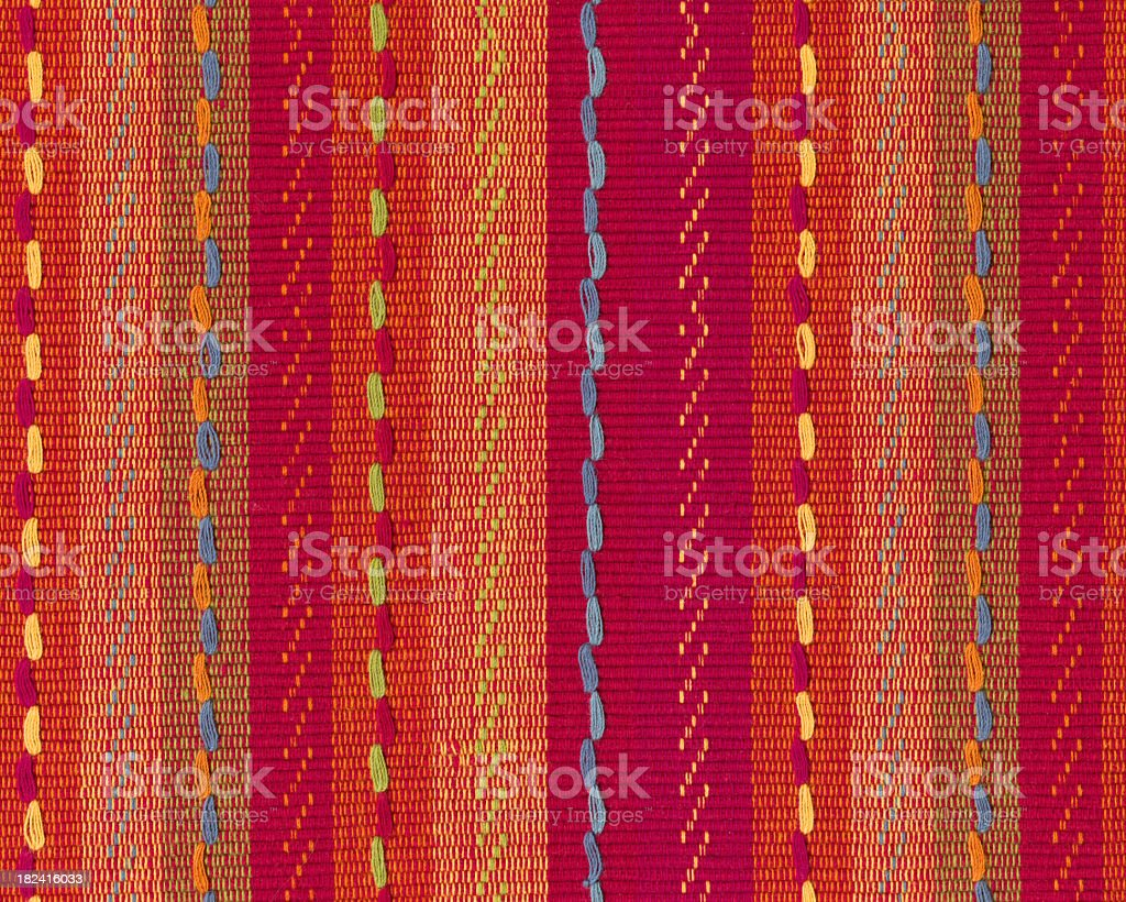 linen with Mexican style pattern royalty-free stock photo