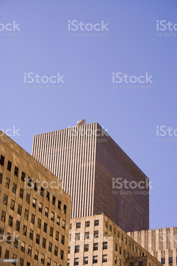 Lines and angles of scyscrapers in New York City royalty-free stock photo