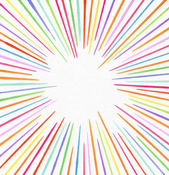 ライン色で描かれたフェルトペン、マーケティング ストックフォト