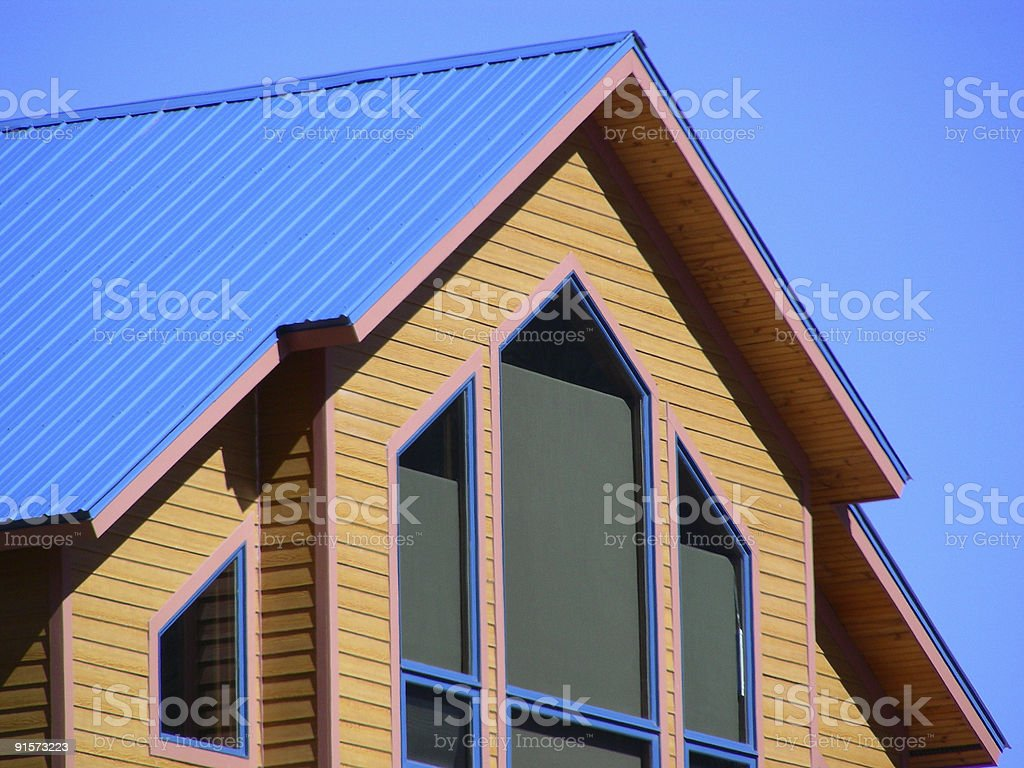 Lines in Metal and Wood royalty-free stock photo