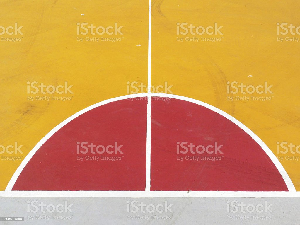 lines of the basketball court stock photo