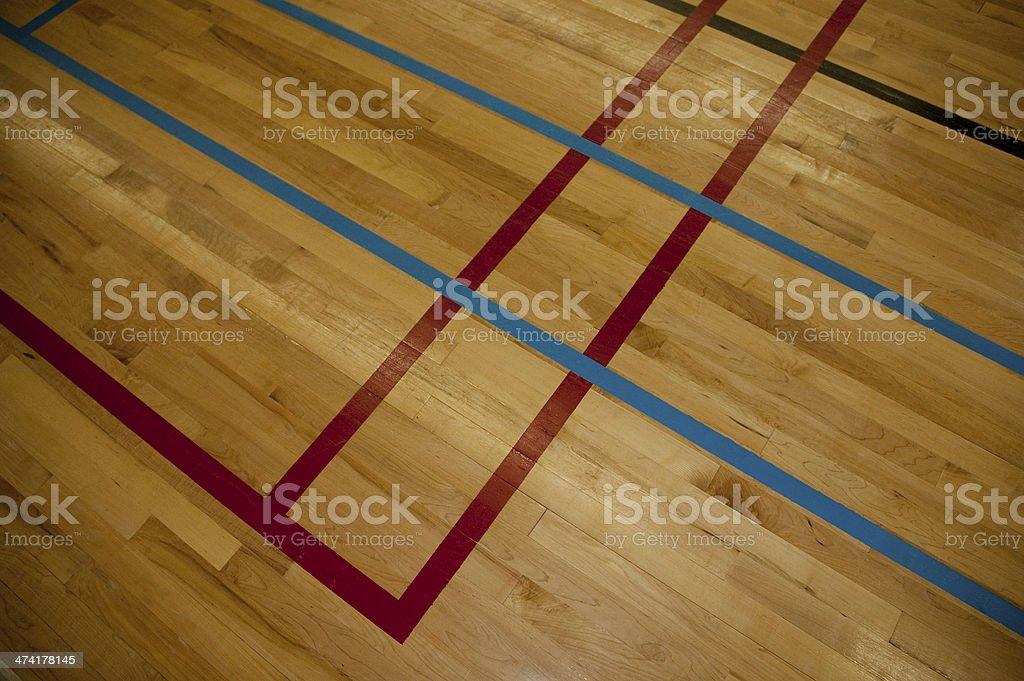 Linien auf eine Hartholz Fitness-Etage – Foto