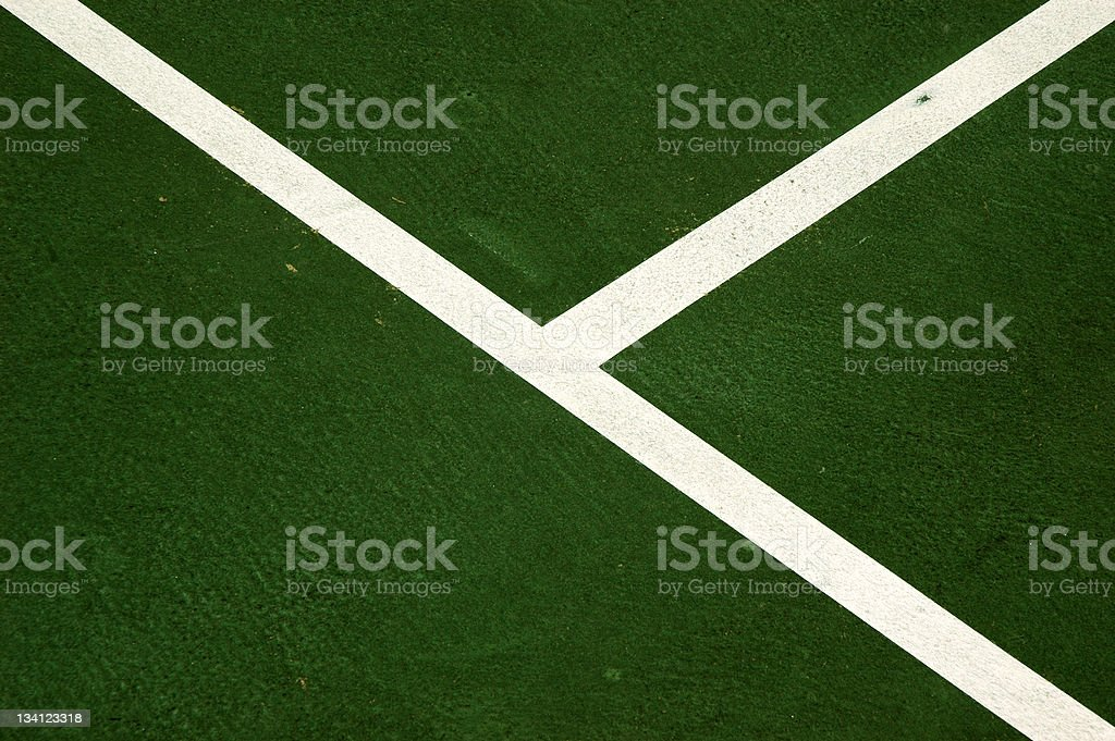 Lines on a Tennis Court royalty-free stock photo