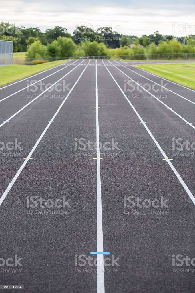 Lines On Outdoor Track stock photo