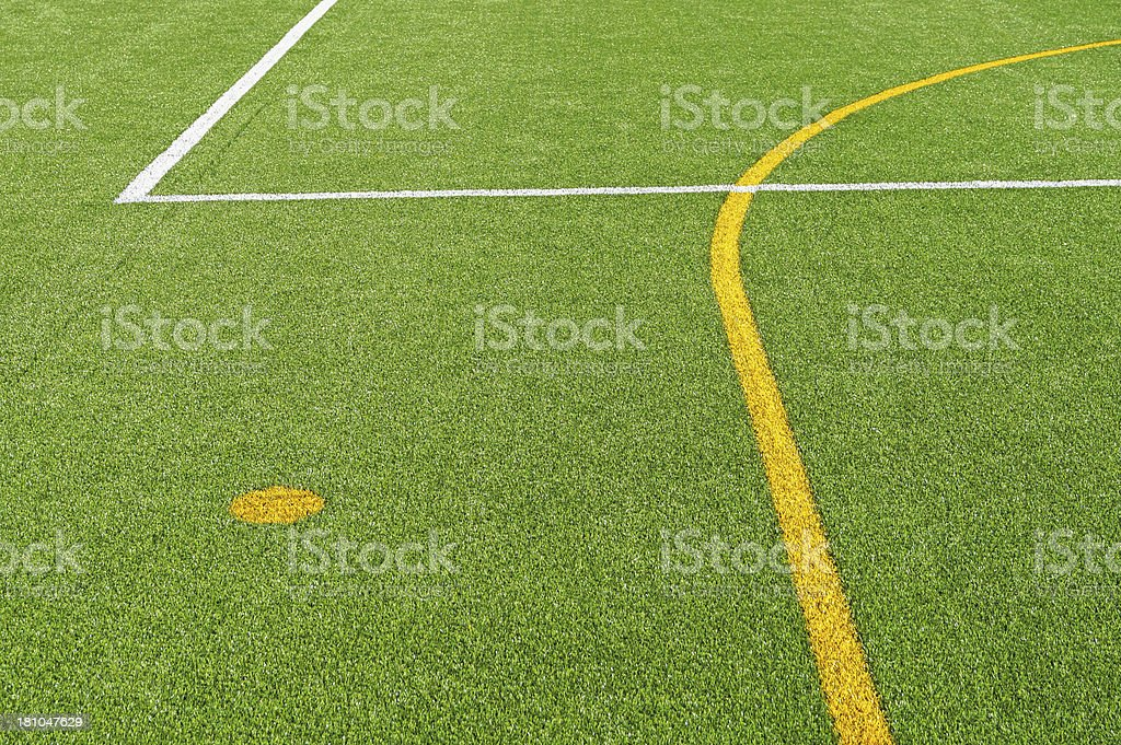lines on the sport field stock photo