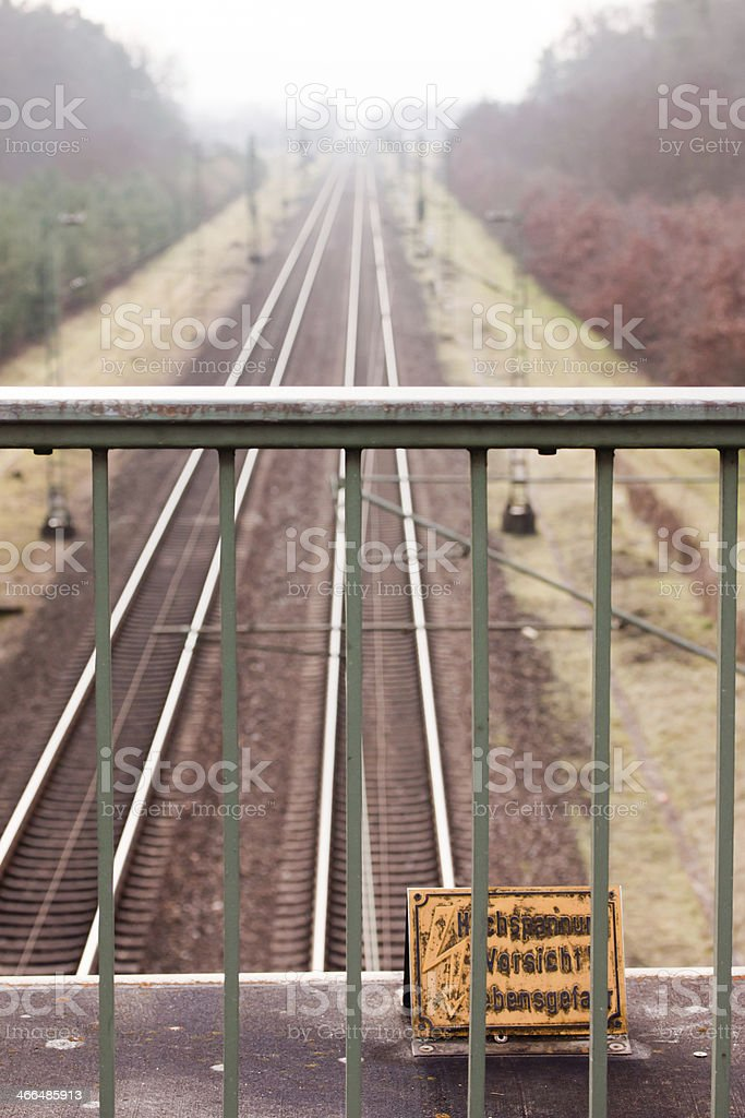 Bahnlinien stock photo