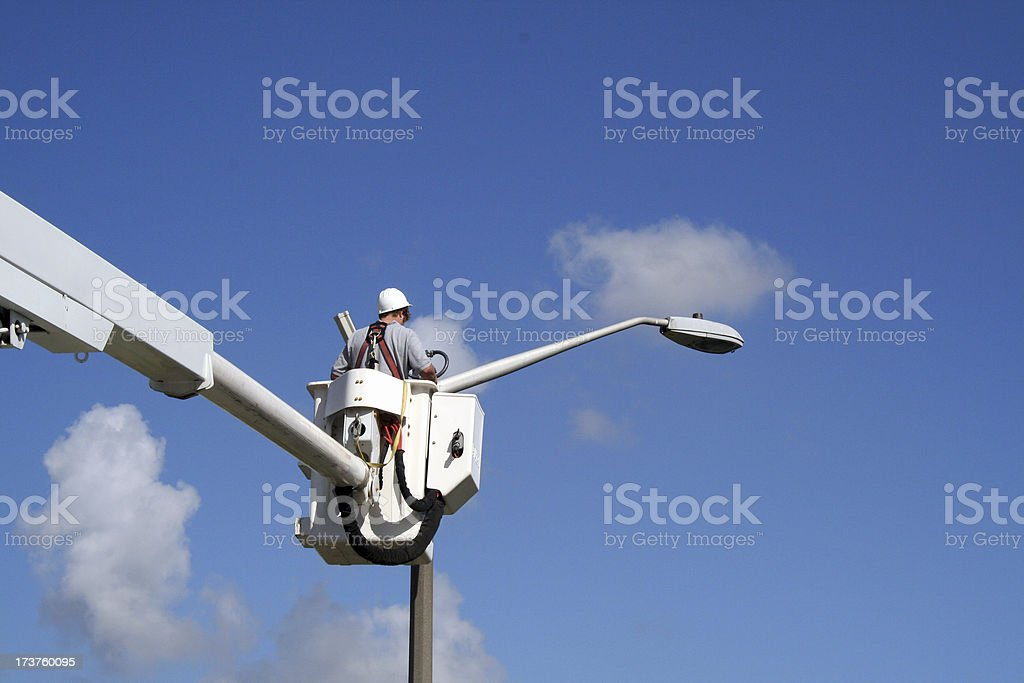 Lineworker 4 stock photo