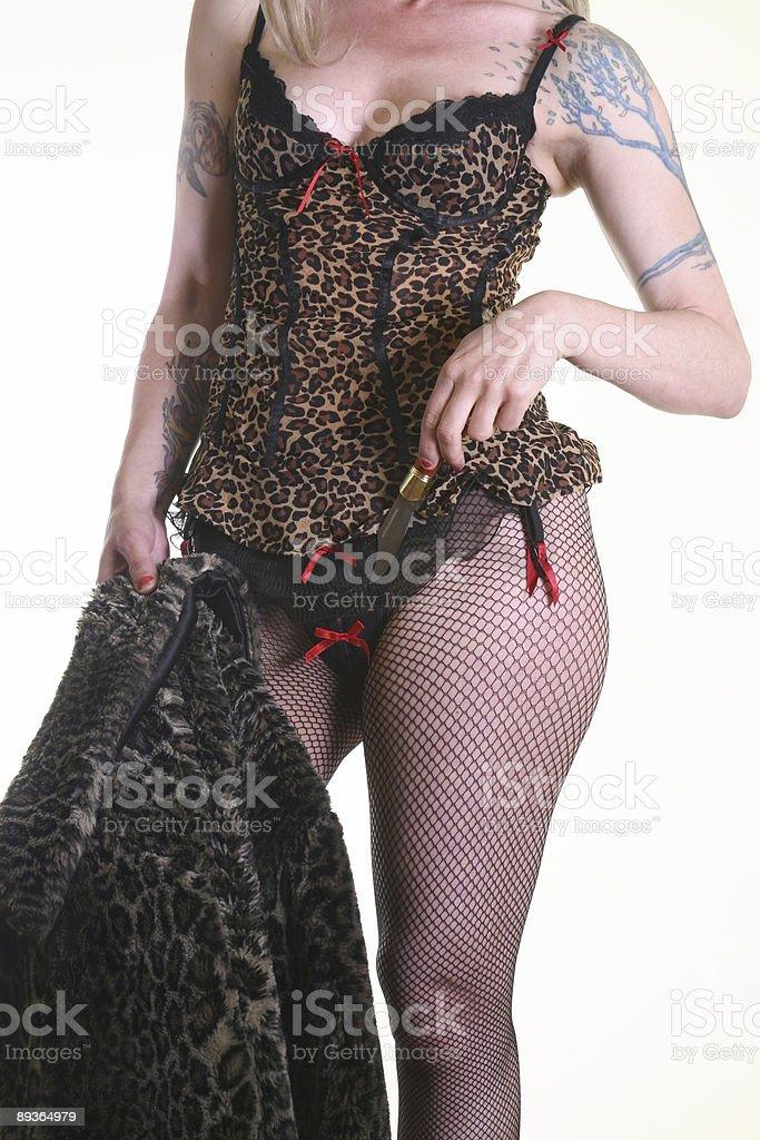 Bielizna damska i tatoo zbiór zdjęć royalty-free
