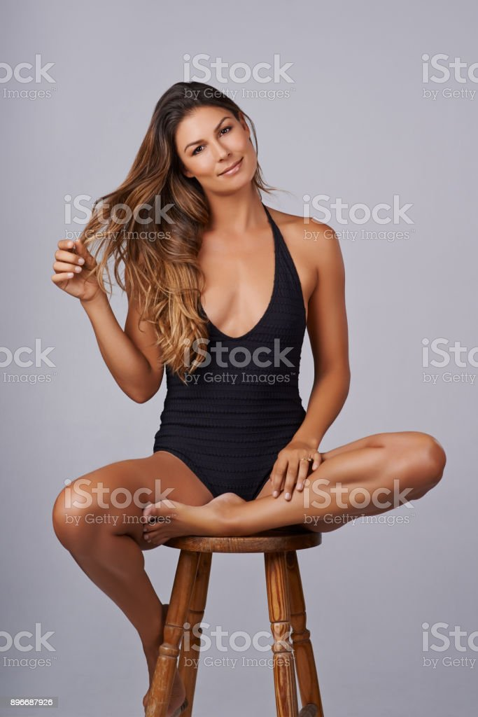 Lingerie - looking sexy for you, feeling sexy for me stock photo