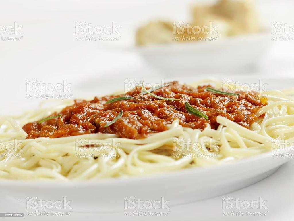 Linguine in Tomato Sauce royalty-free stock photo