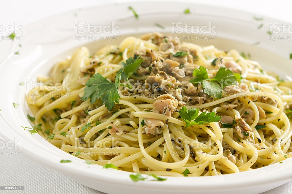 Linguine with Clams royalty-free stock photo