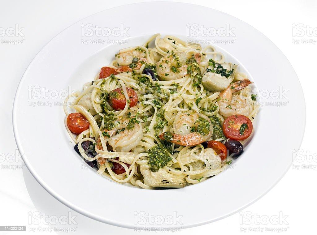 Linguini a la Siciliana royalty-free stock photo